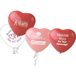 Custom Imprinted Heart Shaped Balloons!