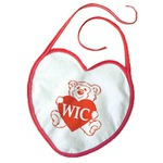 Custom Imprinted Heart Shaped Bibs