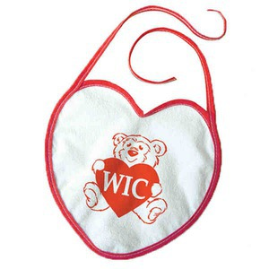 Heart Shaped Themed Promotional Items - Heart Shaped Bibs