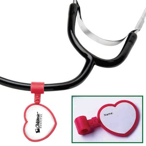 Custom Imprinted Heart Shaped Stethoscope ID Tags