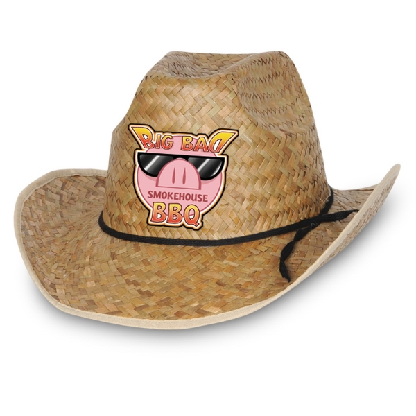 Custom Imprinted Full Color Imprinted Cowboy Hats