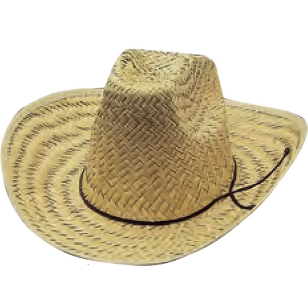 2a59b3a3db940 Straw High Crown Cowboy Hats - Personalized Promotional Items ...