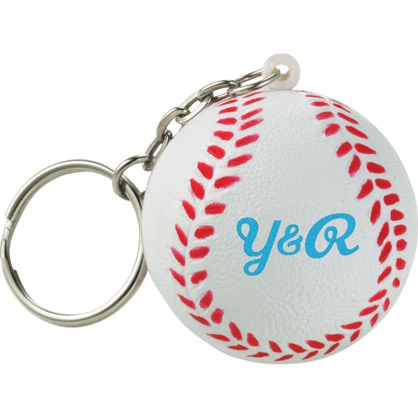 Custom Imprinted Baseball Sport Themed Keychains!