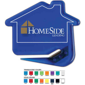 Custom Imprinted House Shaped Letter Slitters For Under A Dollar