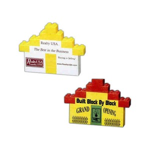 Custom Made House Shaped Mini Stock Shaped Promo Block Sets