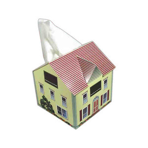 Custom Imprinted House Shaped Tissue Boxes!