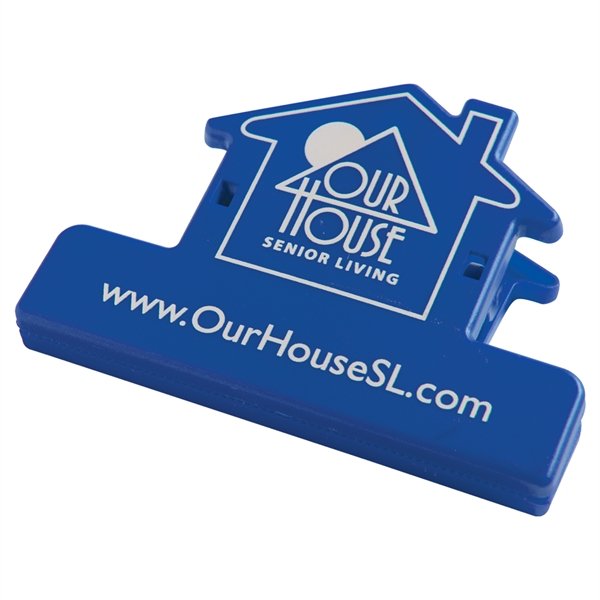 Custom Imprinted House Shaped Bag Clips For Under A Dollar