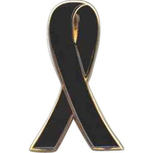 Custom Imprinted In Memorial Awareness Ribbon Pins