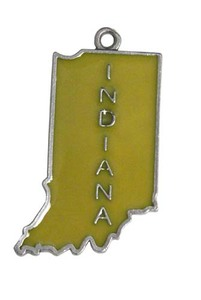 Custom Imprinted Indiana State Shaped Ornaments