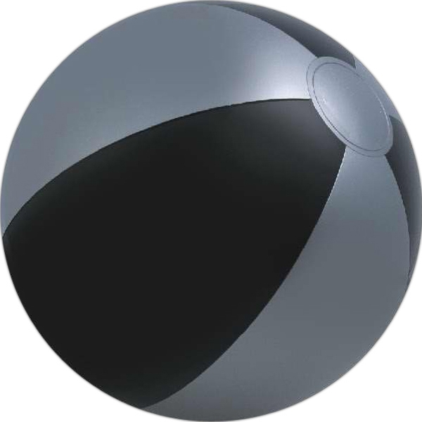 Alternating Color Beach Balls - Black and Silver Alternating Color Beach Balls