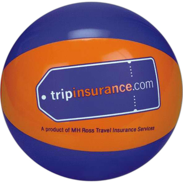 Alternating Color Beach Balls - Blue and Orange Alternating Color Beach Balls