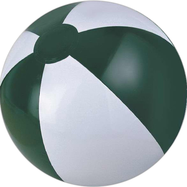 Alternating Color Beach Balls - Forest Green and White Beach Balls