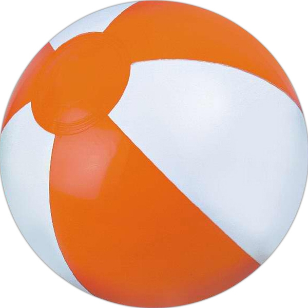 Alternating Color Beach Balls - Orange and White Alternating Color Beach Balls