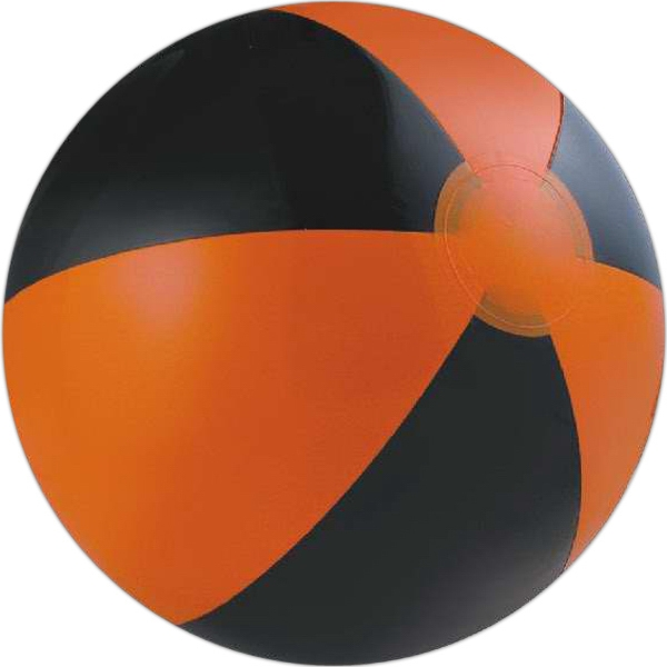 Alternating Color Beach Balls - Orange and Black Alternating Color Beach Balls