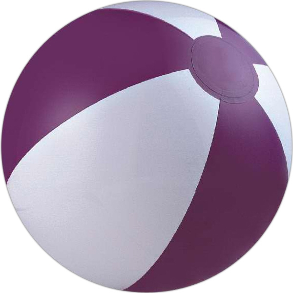 Alternating Color Beach Balls - Purple and White Alternating Color Beach Balls