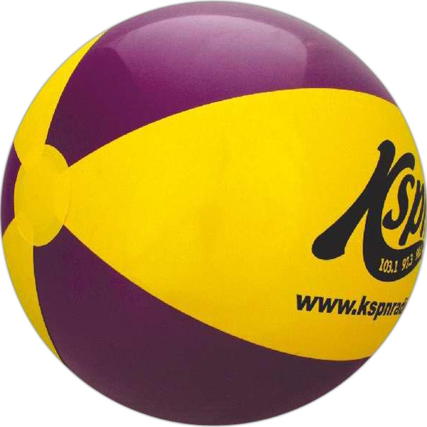 Alternating Color Beach Balls - Purple and Yellow Alternating Color Beach Balls