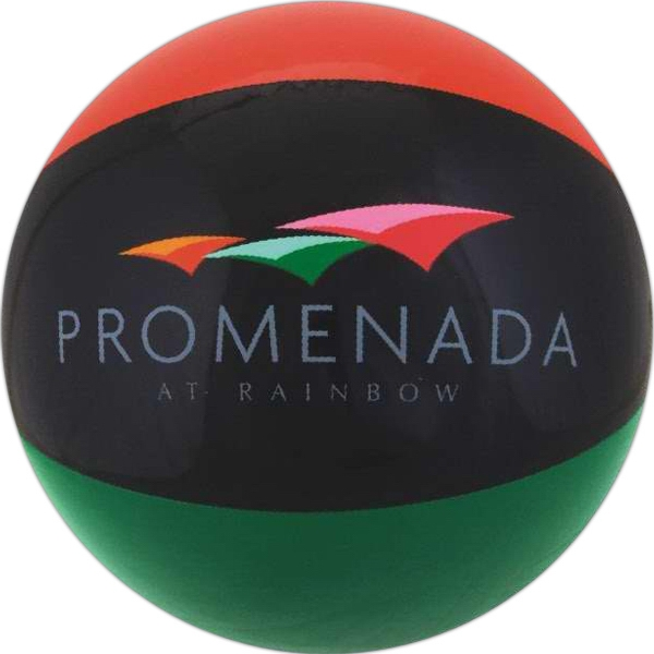 Alternating Color Beach Balls - Burnt Red Black and Green Alternating Color Beach Balls