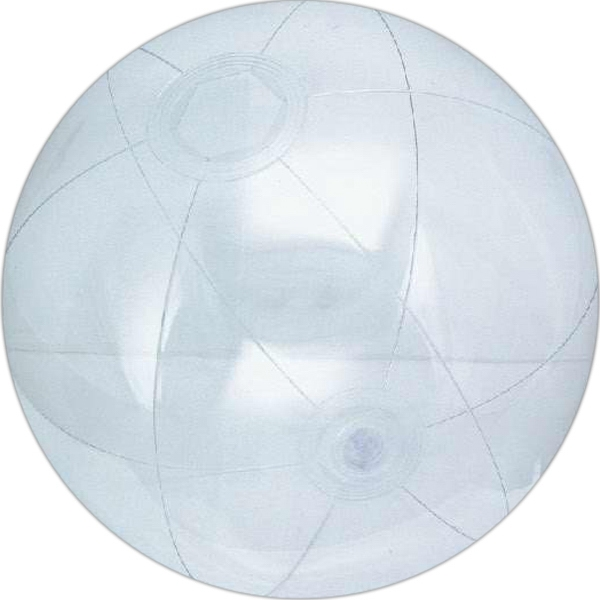 Custom Designed Clear Color Translucent Beach Balls!