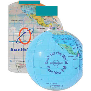 Custom Imprinted Inflatable Globe Beach Balls