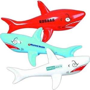 Fish Themed Promotional Items - Inflatable Shark Animal Toys
