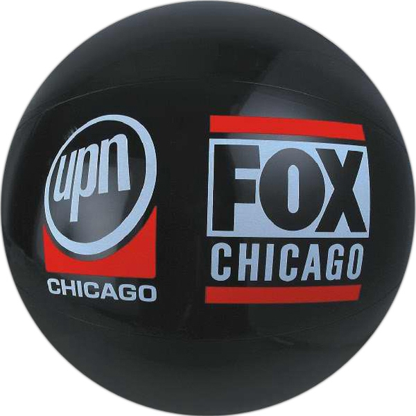 Personalized Black Solid Color Beach Balls