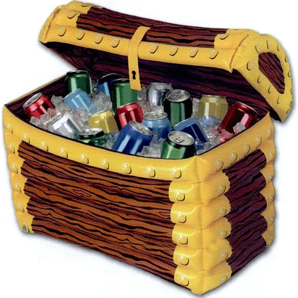 Custom Designed Inflatable Treasure Chest Coolers