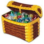 Custom Printed Inflatable Treasure Chest Coolers!