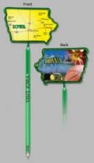 Iowa State Shaped Promotional Items -