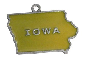Custom Imprinted Iowa State Shaped Ornaments