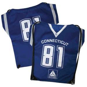 Custom Imprinted Jersey Drawstring Backpacks!
