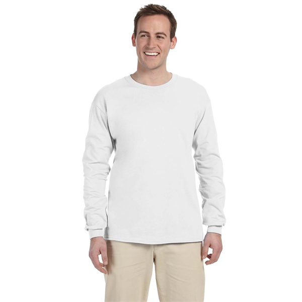 Custom Imprinted White Long Sleeve T-shirts