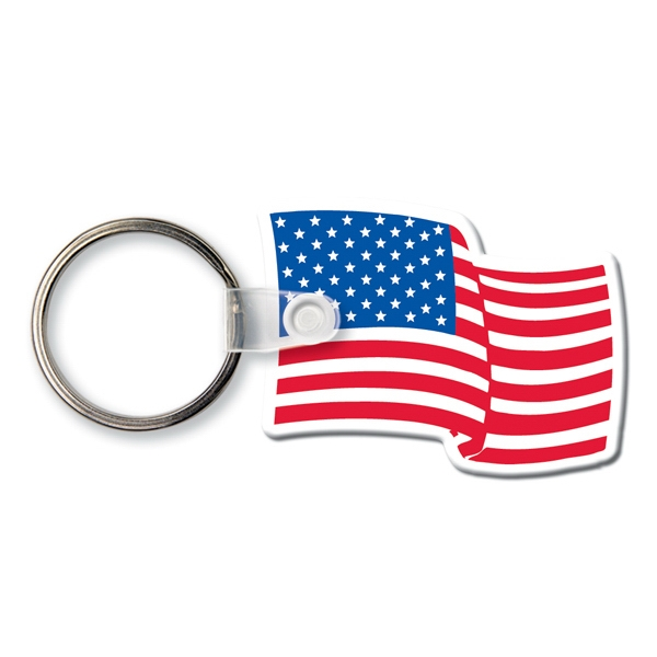 Key Tags - Patriotic Flag Key Rings