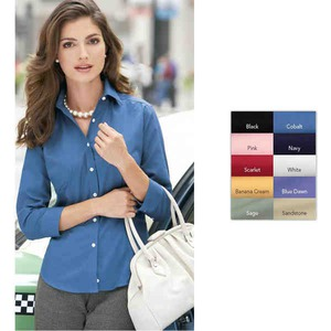 Embroidered Ladies Van Heusen Woven Dress Shirts