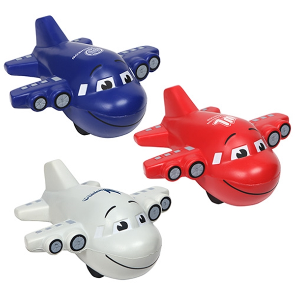 Custom Imprinted Airplane Shaped Stress Relievers