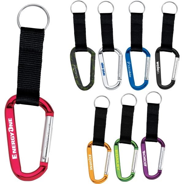 Custom Imprinted 1 Day Service 8mm Carabiners