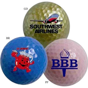 Golf Balls - Large Imprint Area Colored Golf Balls