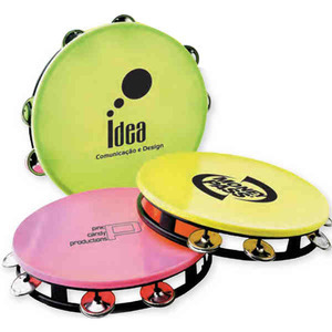 Custom Imprinted Large Neon Tambourines!