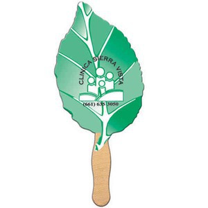 Stock Shaped Paper Fans - Leaf Stock Shaped Paper Fans