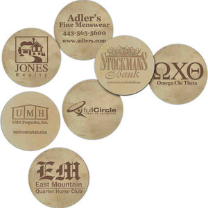 Custom Imprinted Leather Coasters!