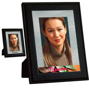 Custom Imprinted Leather Like Photo Picture Frames!