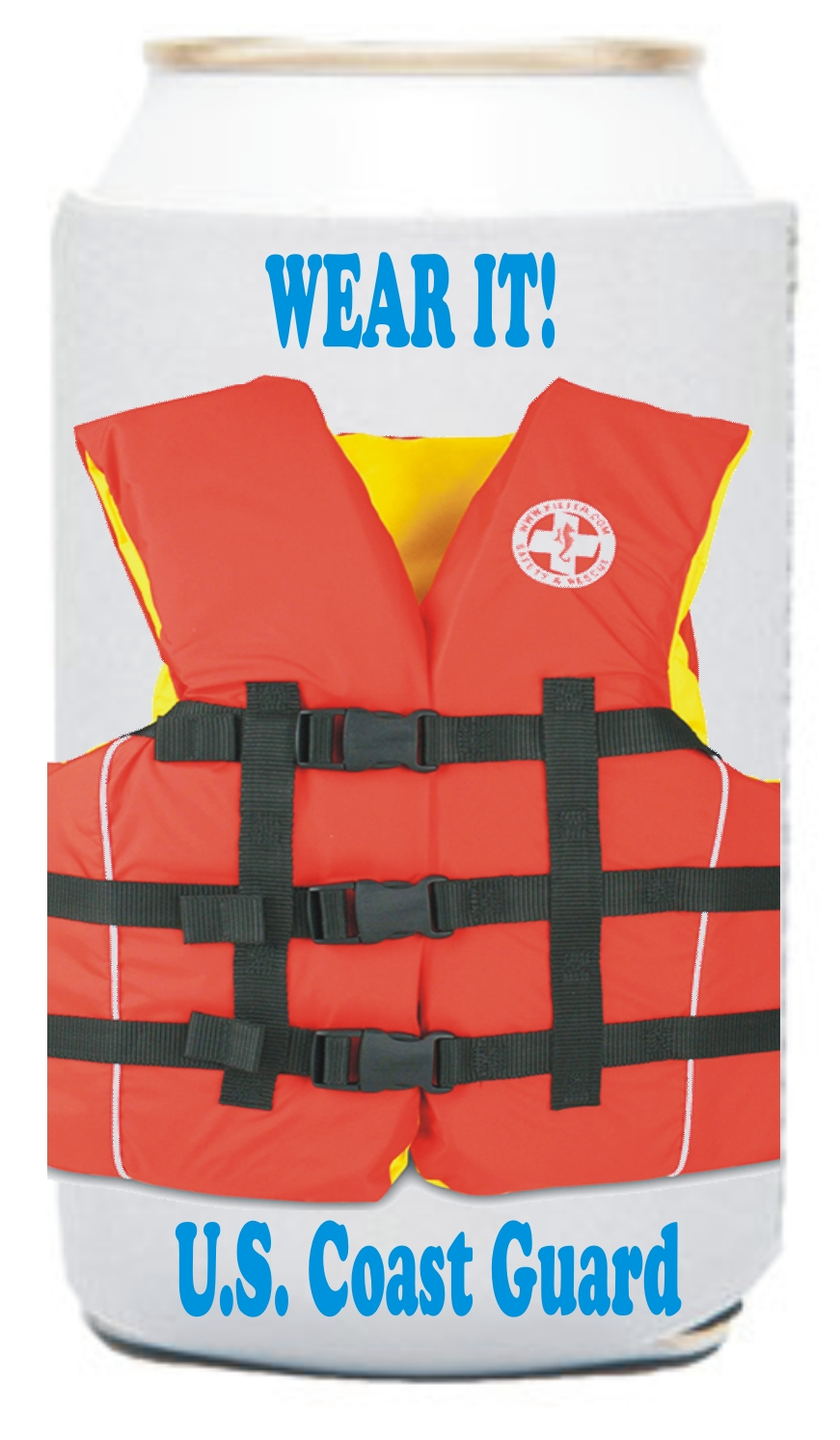 Custom Imprinted Life Jacket Vest Can Coolers!