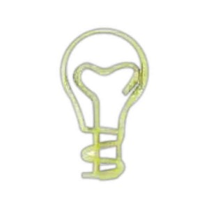 Bent Shaped Paperclips in Zip Pouches - Light Bulb Bent Shaped Paperclips in Zip Pouches