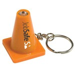 Custom Printed Light Up Safety Cone Keychains!