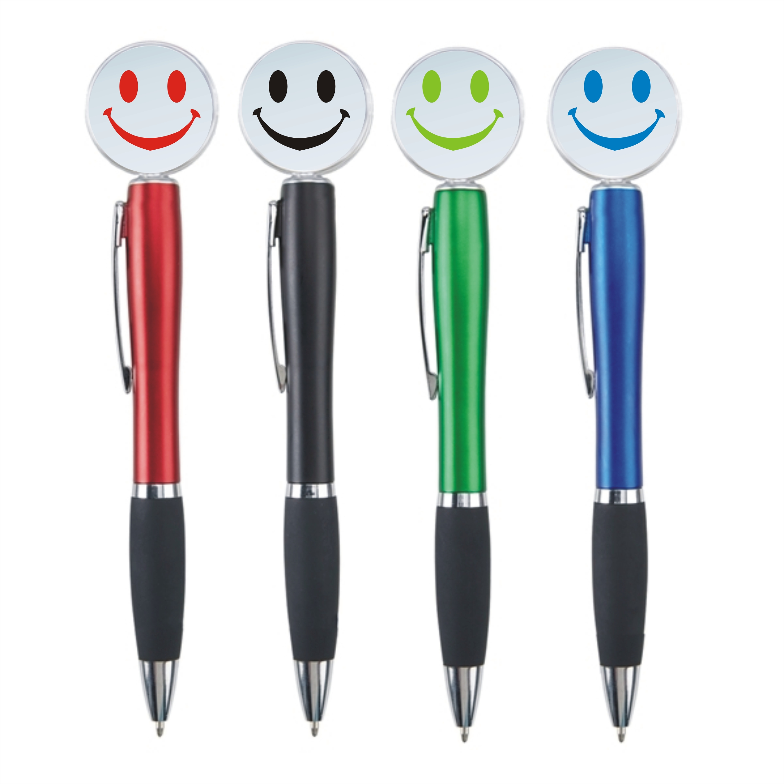 Custom Imprinted Light Up Smiley Face Fun Pens!