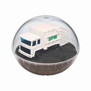 Custom Printed Lighted Mobile Garbage Truck Crystal Globes!