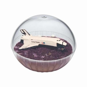 Custom Decorated Lighted Mobile Space Shuttle Crystal Globes