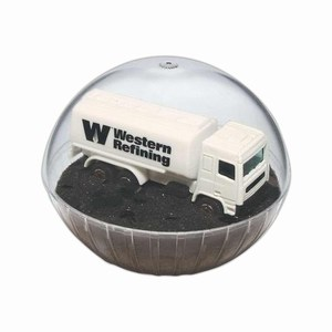 Custom Decorated Lighted Mobile Tanker Crystal Globes