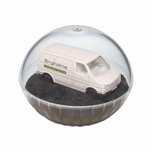 Custom Designed Lighted Mobile Van Crystal Globes!