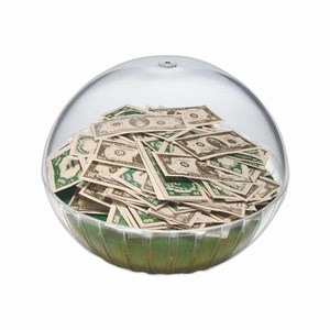 Custom Decorated Lighted Money Crystal Globes!