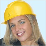 Customized Lightweight Polyethylene Slotted Shell Hard Hats